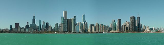 """Chicago skyline as seen from sailing ship """"Windy"""" Oct. 2011 by Bladerunner2019"""