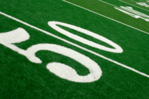 Football 50 yardline