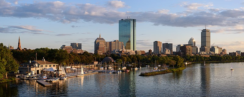 Panorama of Back Bay skyline from Longfellow Bridge, Boston by King of Hearts