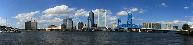 Panorama of the Jacksonville city skyline by Jonathan Zander