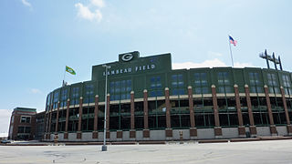 Exterior image of Lambeau Field, home of the Green Bay Packers by JL1Row